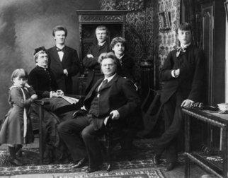 Bjørnstjerne Bjørnson med familie